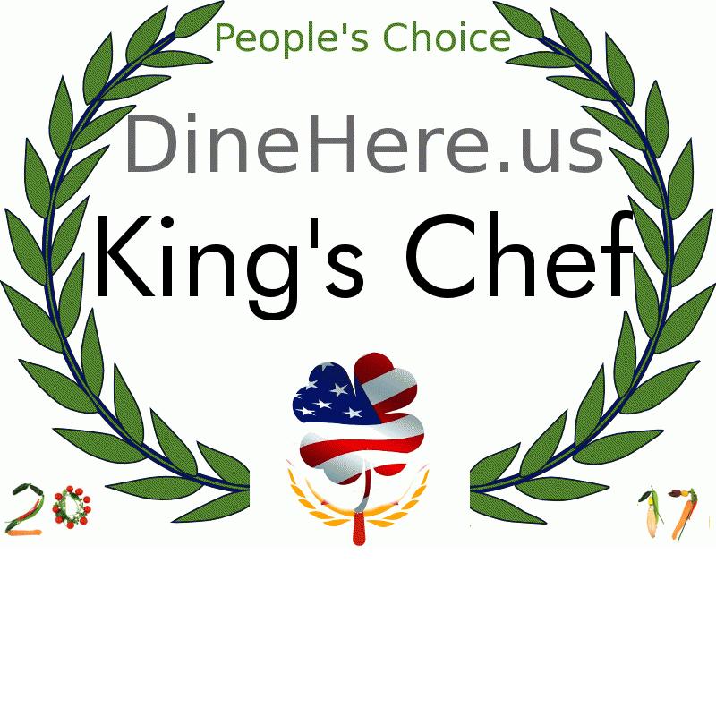 King's Chef DineHere.us 2017 Award Winner